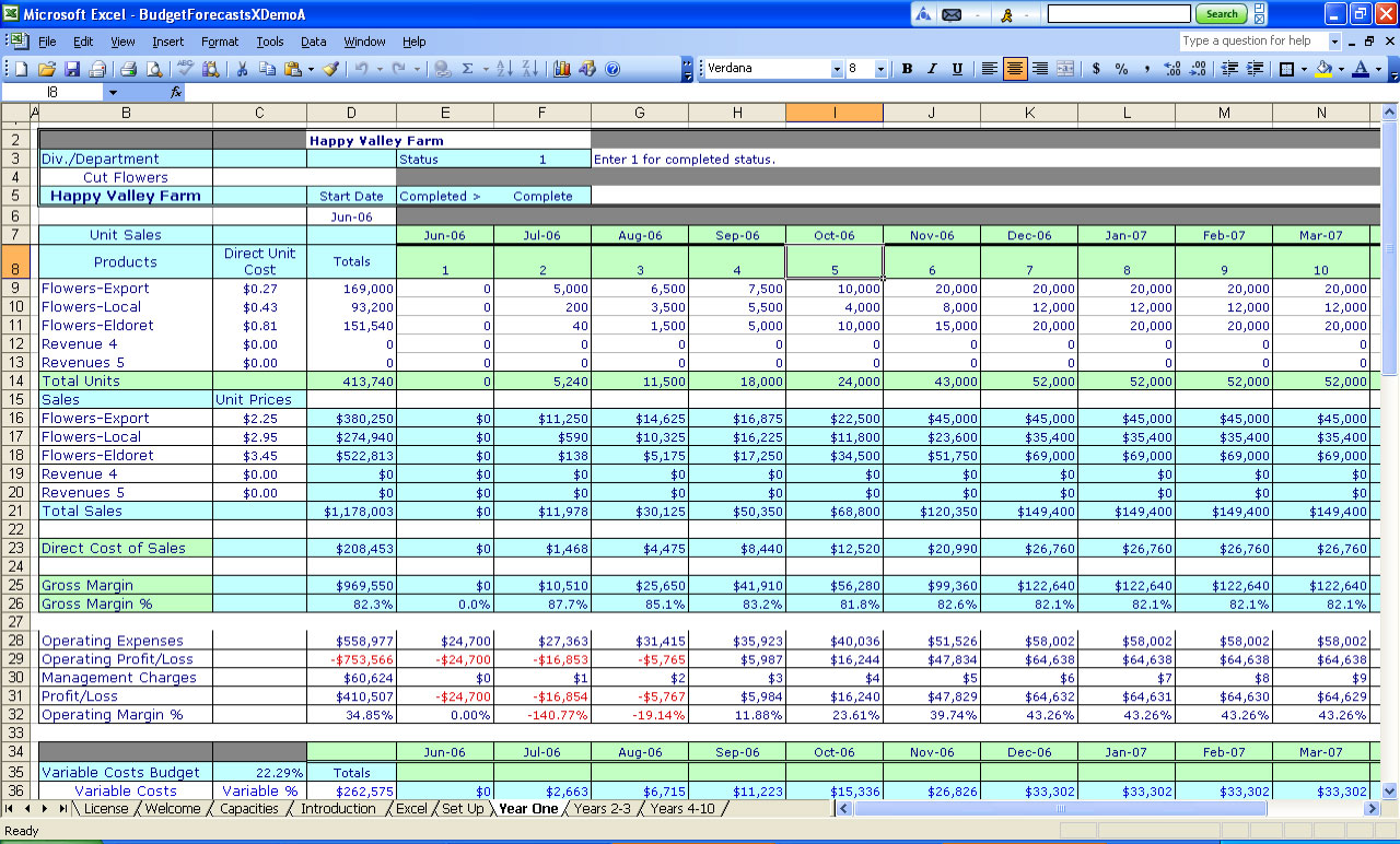 Exel Spreadsheets
