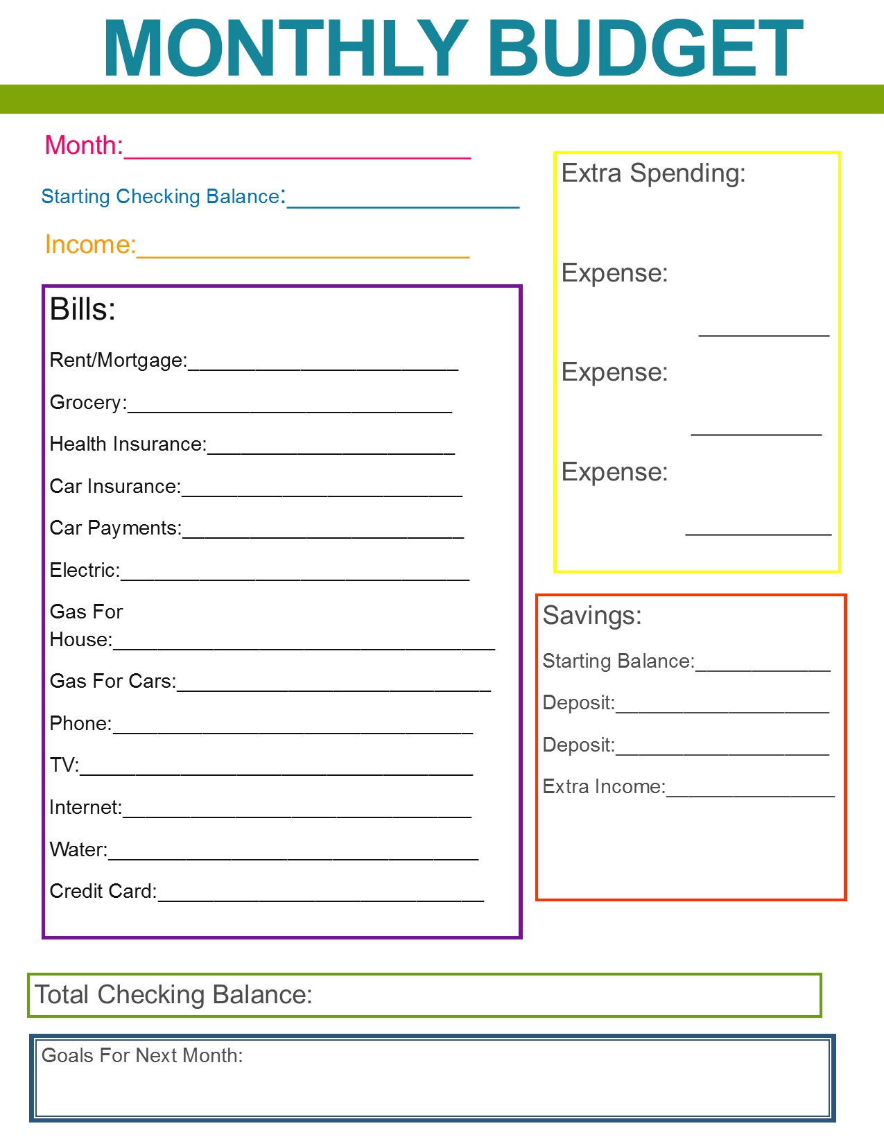 Family Budget Planner App And Household Budget Planner Uk
