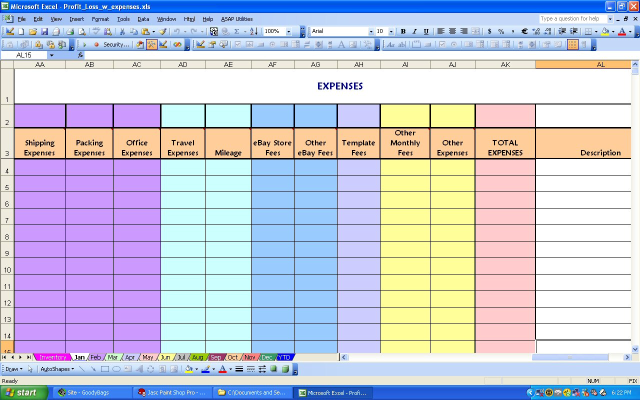 6 Monthly Bill Trackers  Word Excel Templates