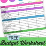 Family Budgeting Worksheets