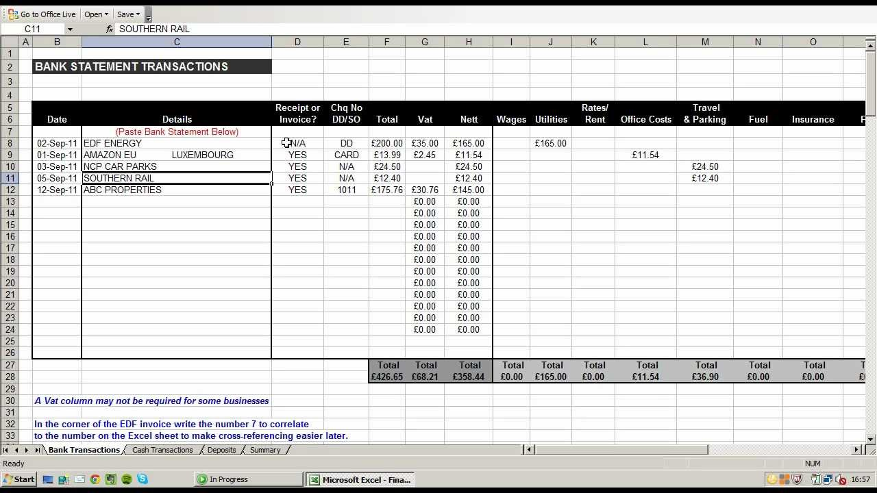 sample spreadsheet templates