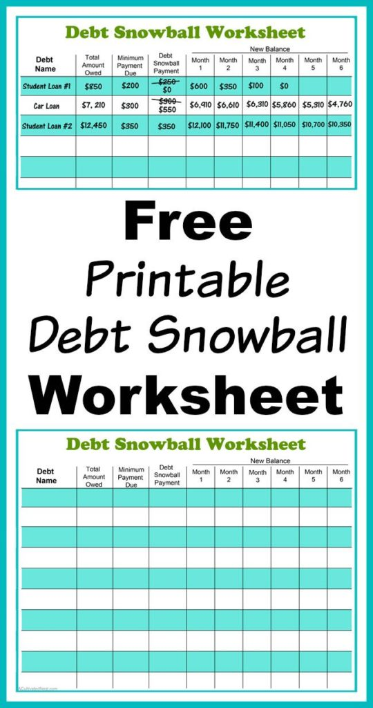 Free Debt Reduction Calculator Spreadsheet  Natural Buff Dog