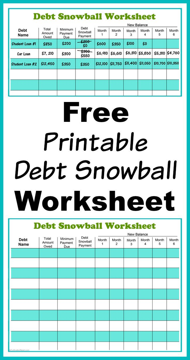 Free Debt Reduction Calculator Spreadsheet