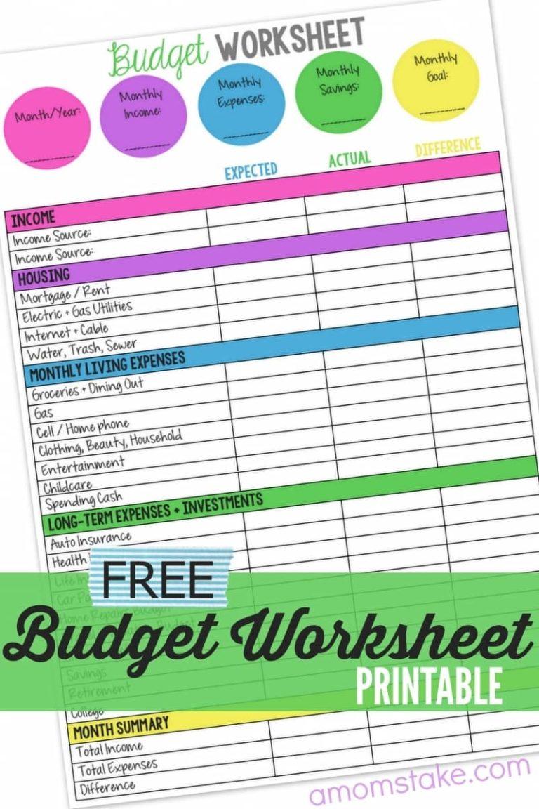 online budget spreadsheet free