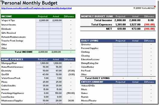 Free Excel Budget Spreadsheet And Free Excel Home Budget Spreadsheet
