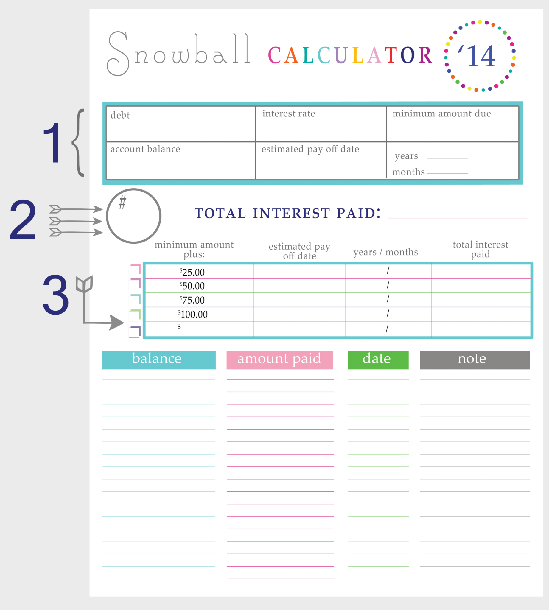 Free Excel Debt Reduction Template