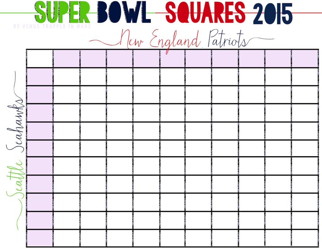 Free Football Squares Spreadsheet