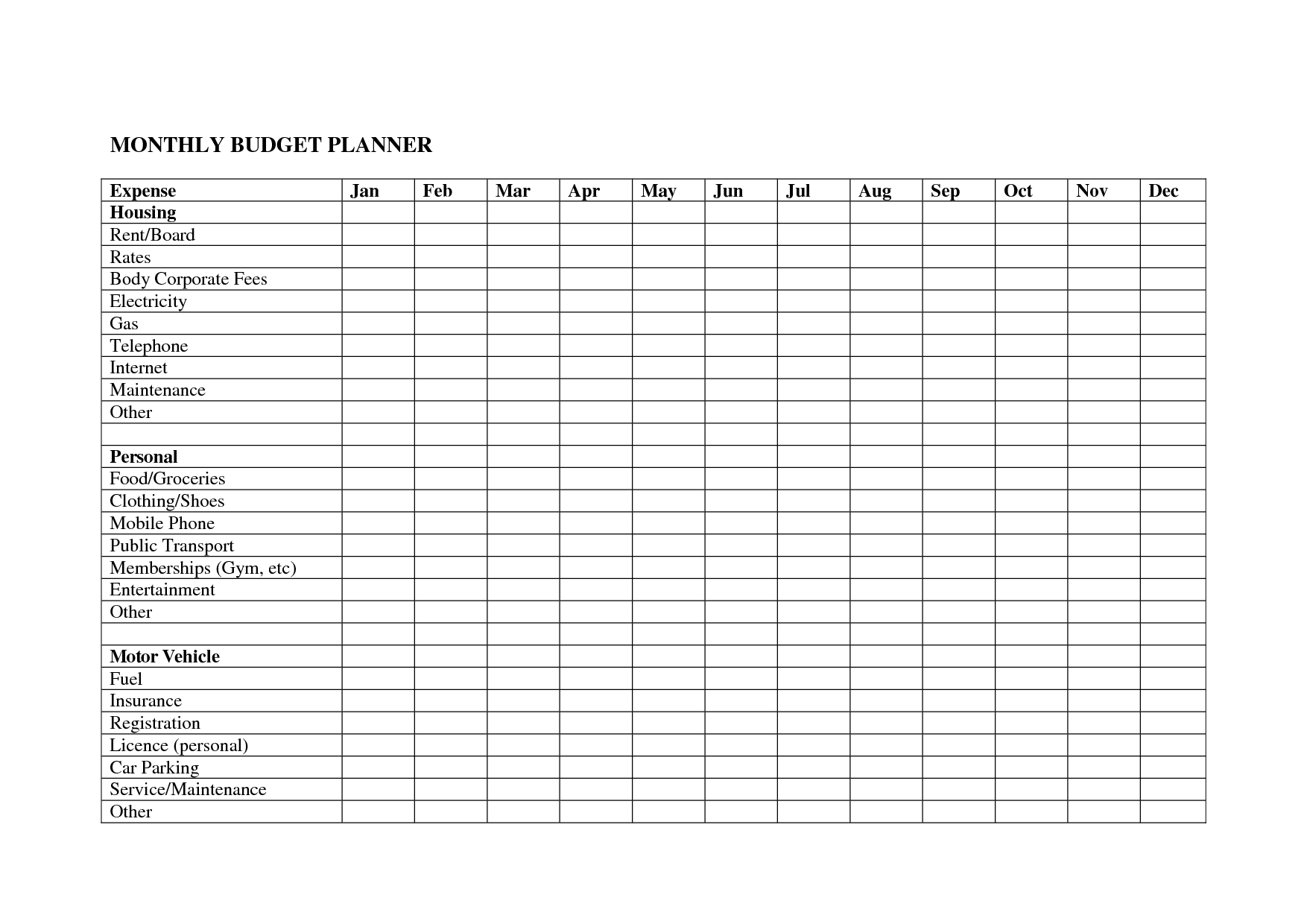 Free Online Budget Template And Free Printable Budget Worksheets – Downloadable Budget Worksheet
