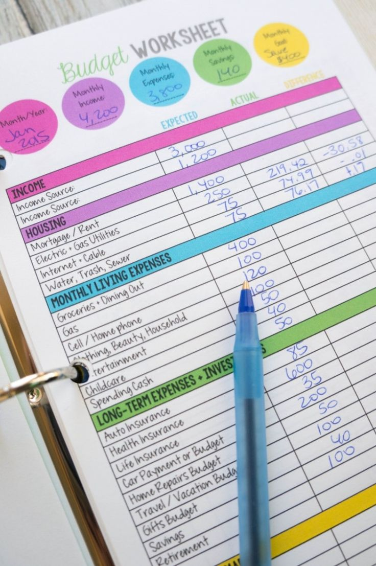 Free Printable Budget Template Monthly And Free Printable Budget Sheets Templates