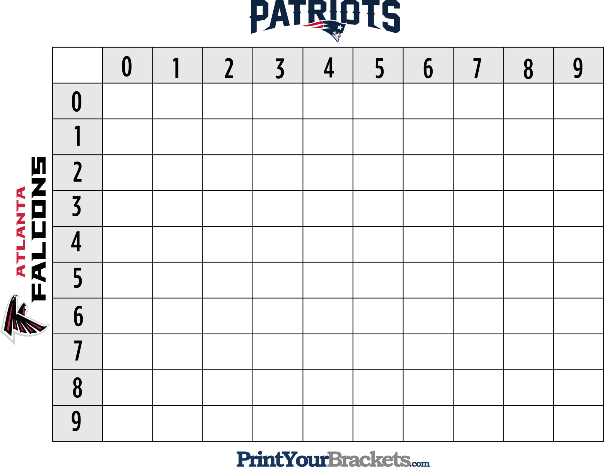 Free printable football 50 squares natural buff dog free printable football 50 squares alramifo Images