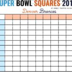 Free Super Bowl Squares Template Excel