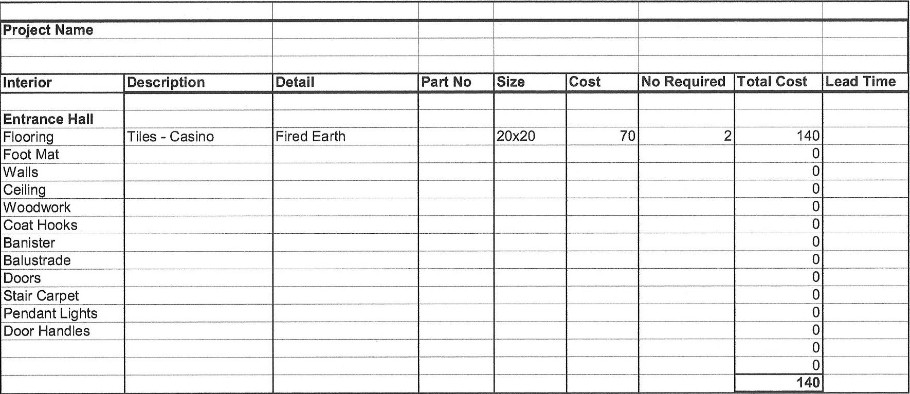 House building cost spreadsheet natural buff dog for Free home building cost estimator