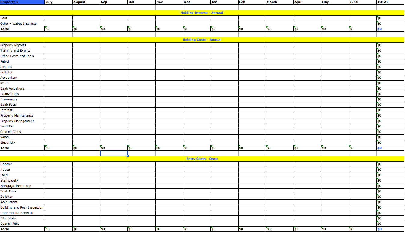 Landlord Spreadsheet Download