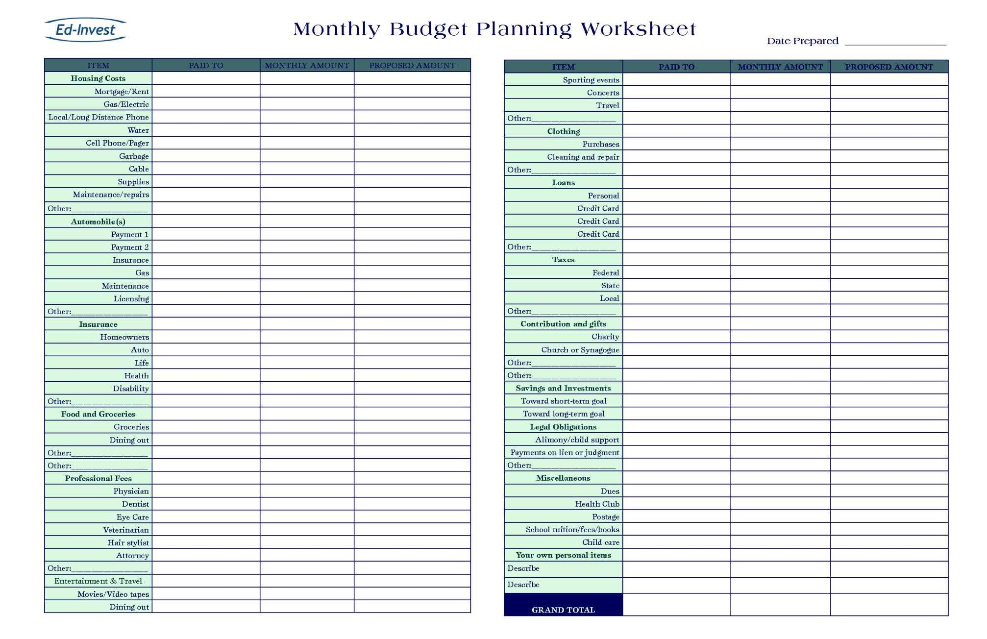 Online Budget Planner Calculator