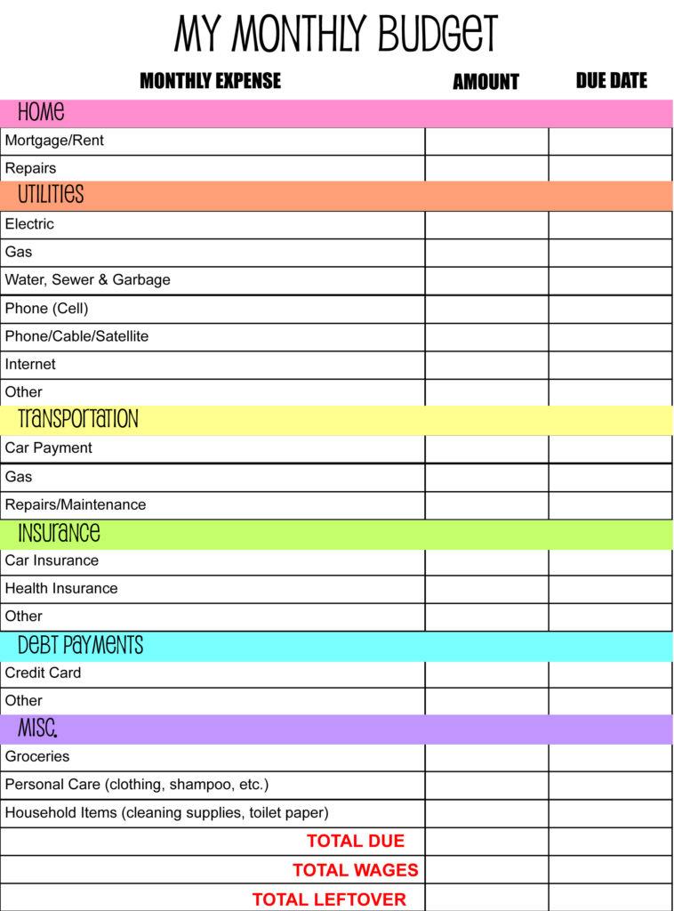 online budget planning tool