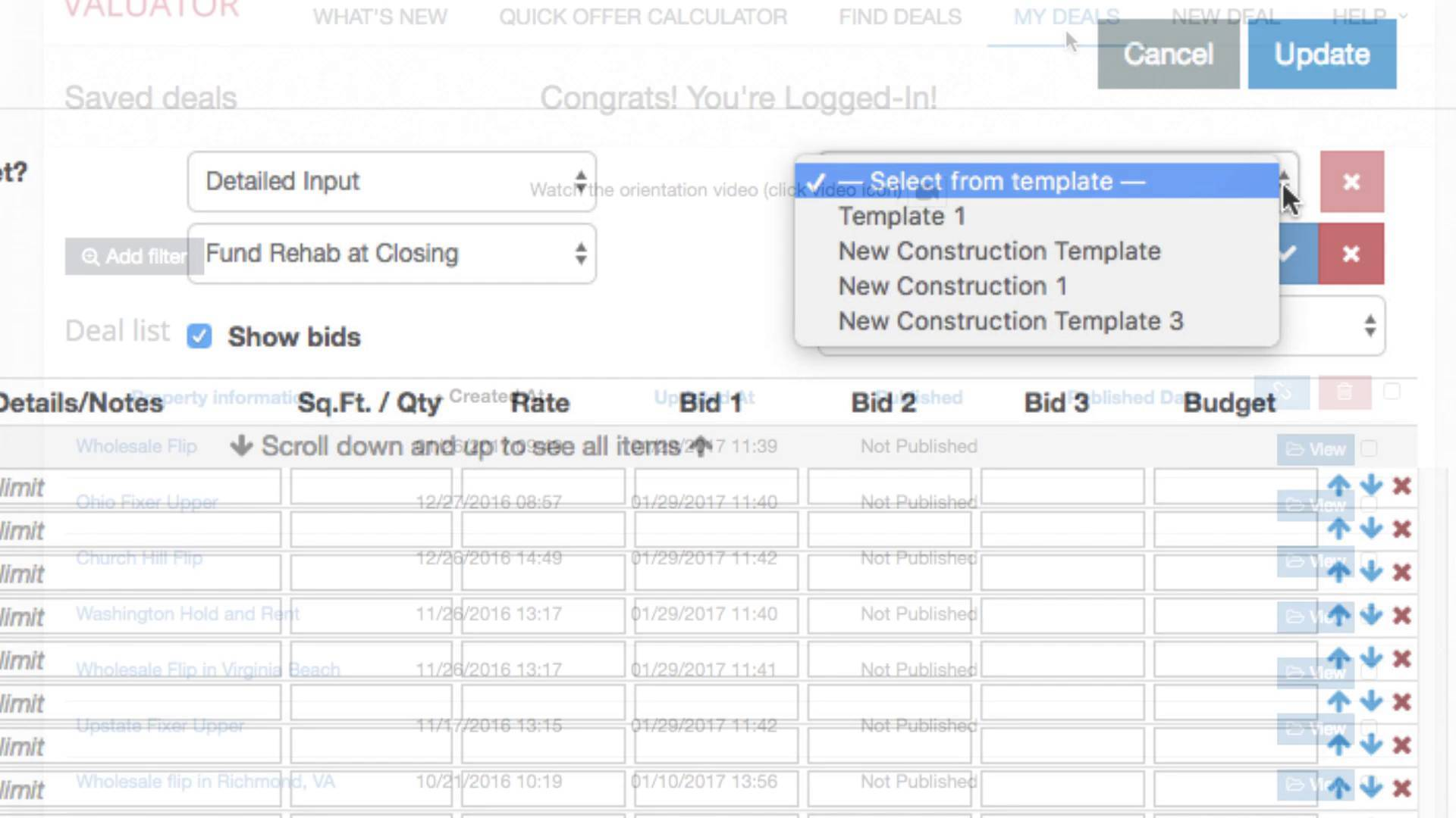 Real Estate Investment Spreadsheets