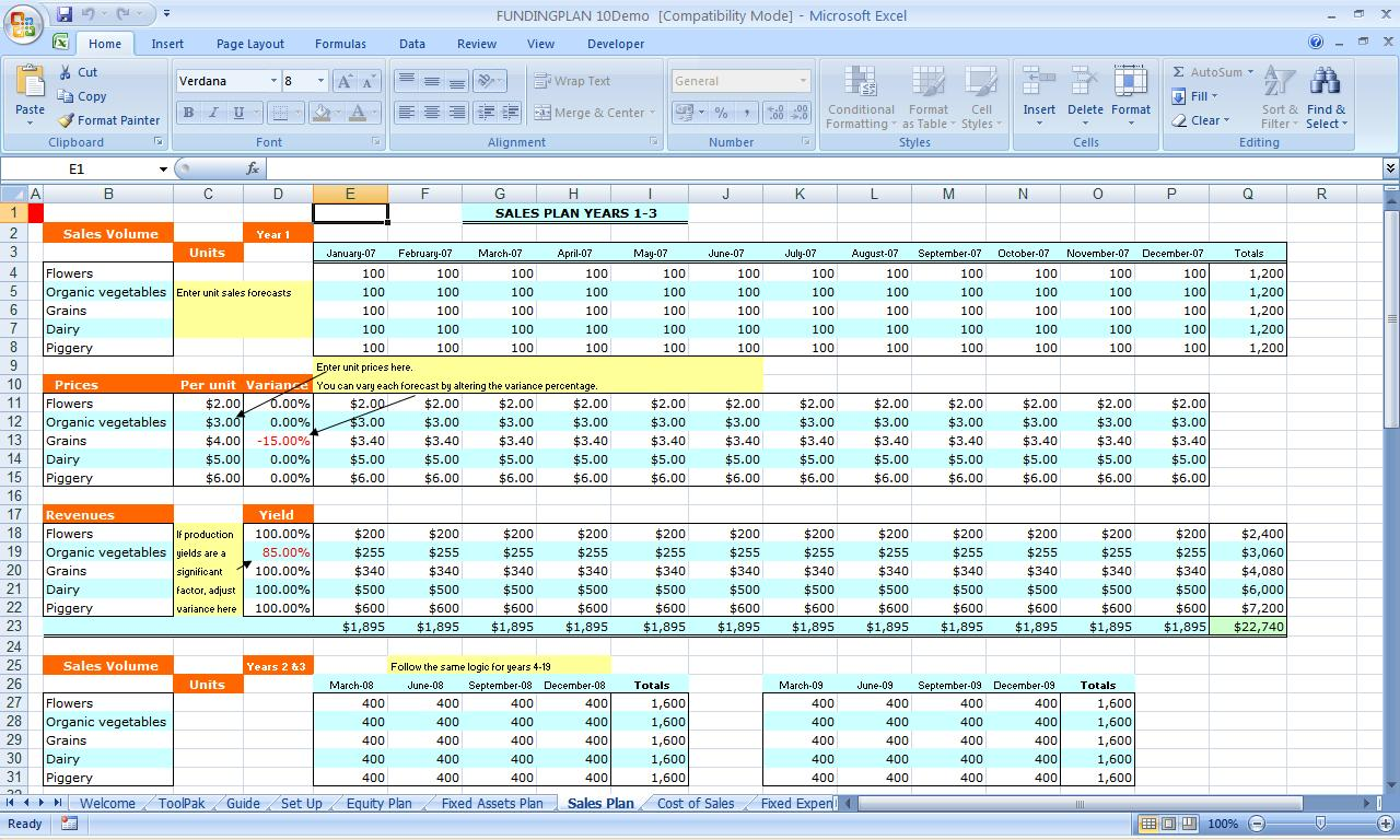 Sample Spreadsheet For Small Business | Natural Buff Dog