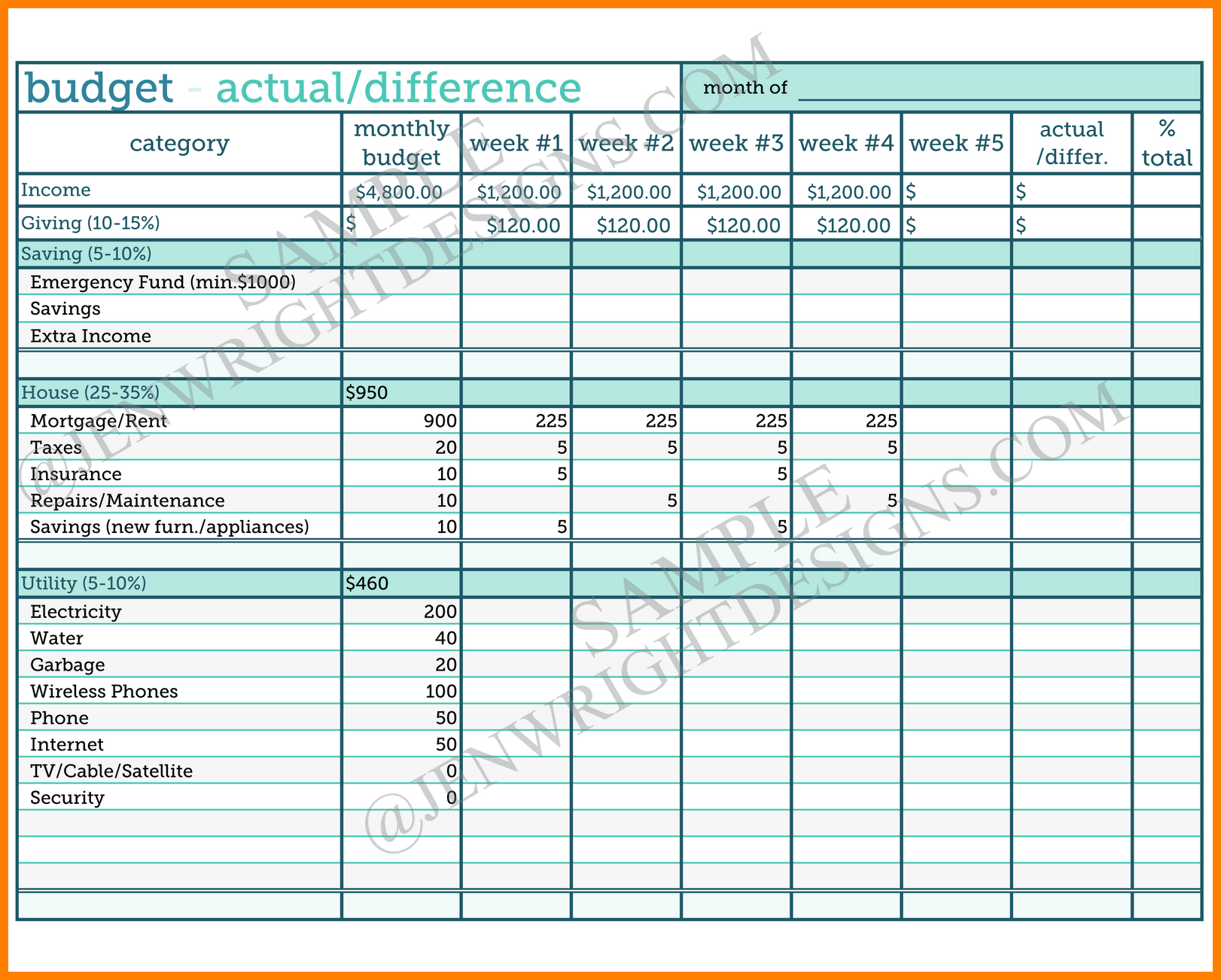 Worksheets Sample Budget Worksheet free sample budget worksheet printable natural buff dog household templates samples of spreadsheets in excel