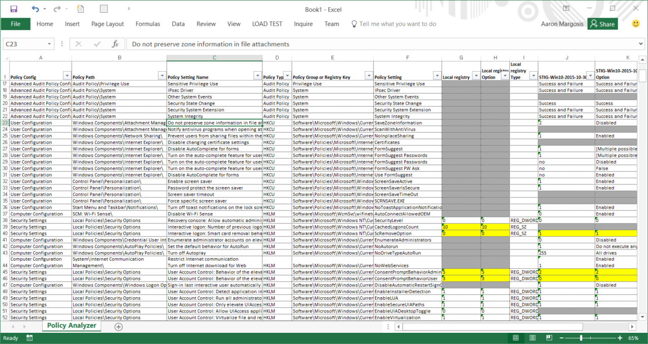 Secure Excel Workbook