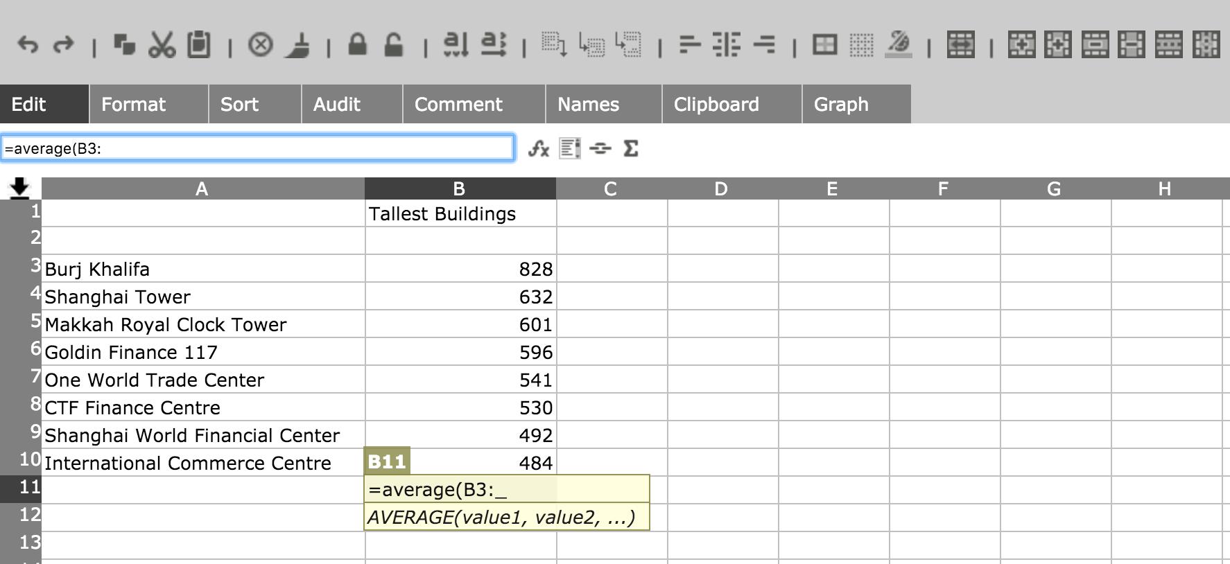 Share Online Excel Spreadsheet