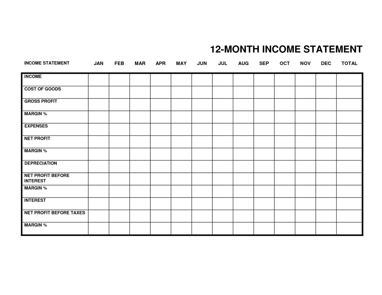 small business income expense spreadsheet