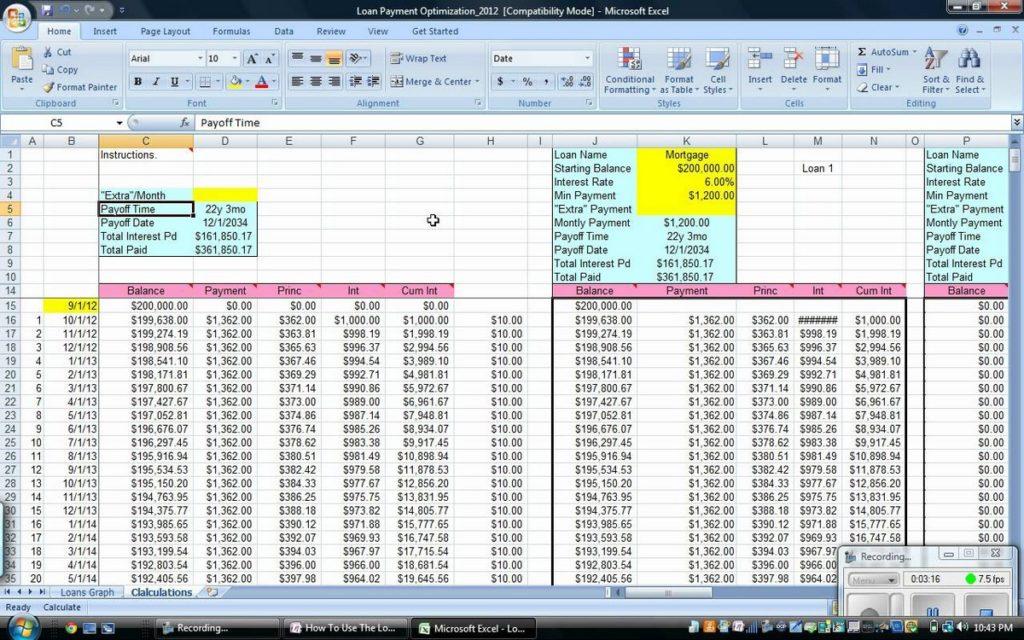 Debt snowball excel spreadsheet free