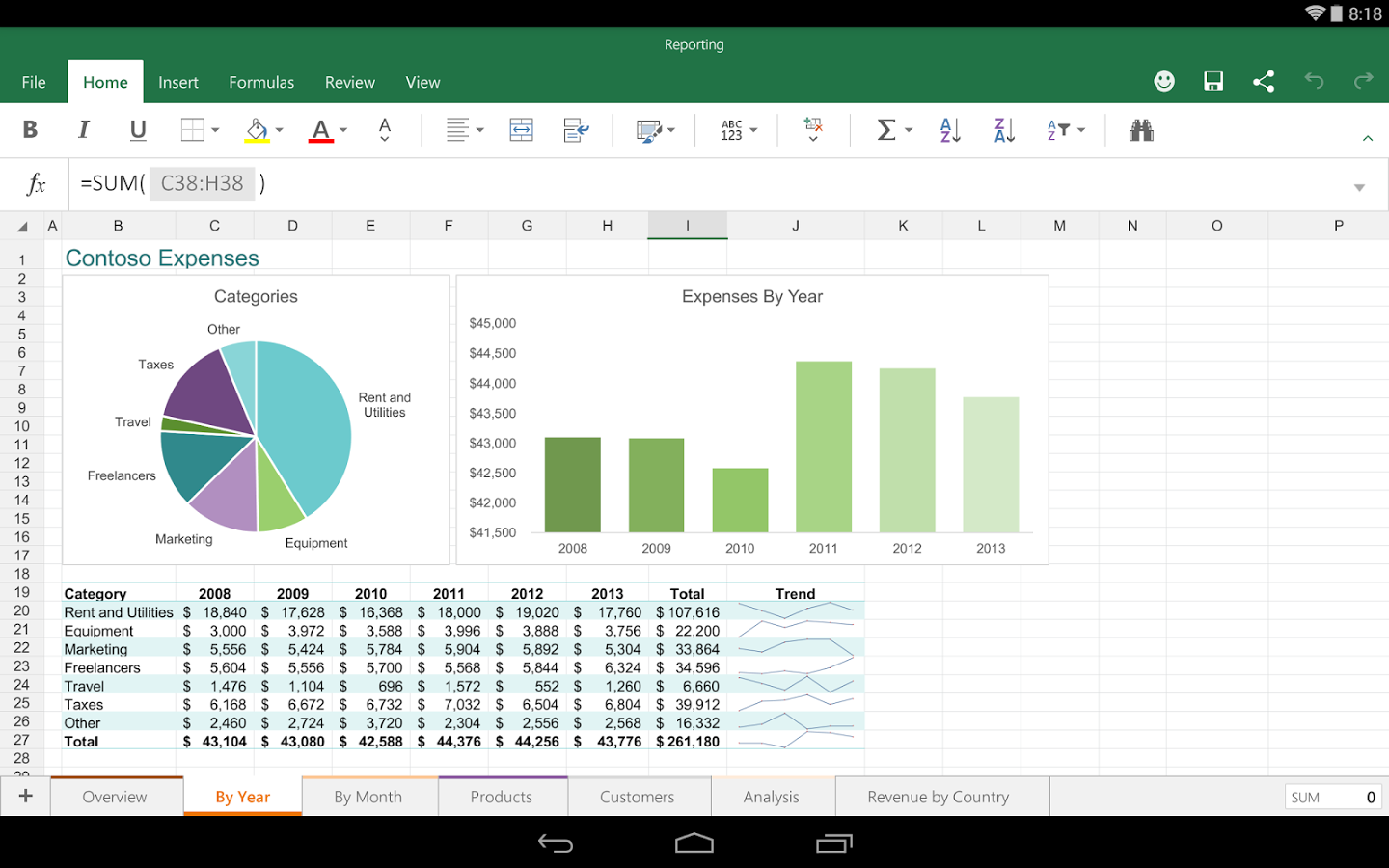 Spreadsheet App For Android Tablet