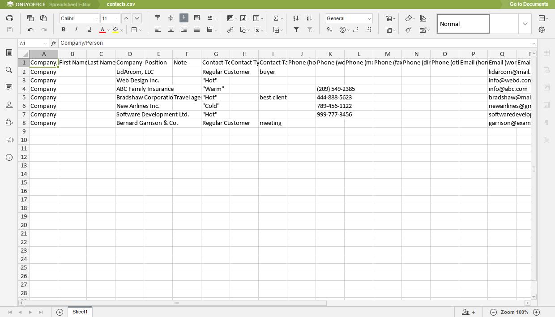 Spreadsheet Creator Download