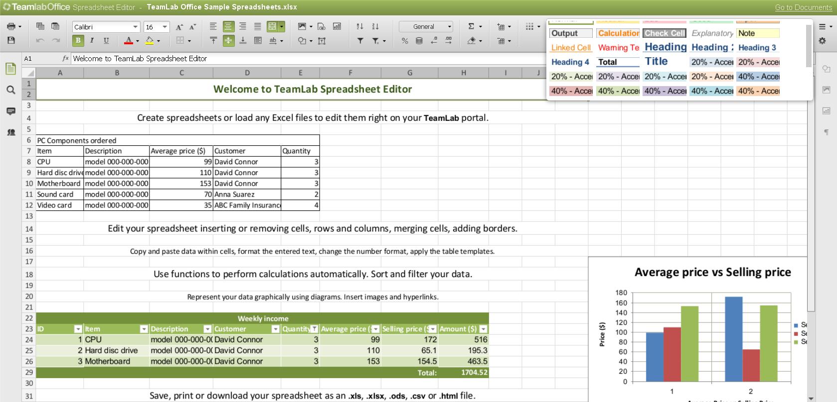 Spreadsheet Creator Free