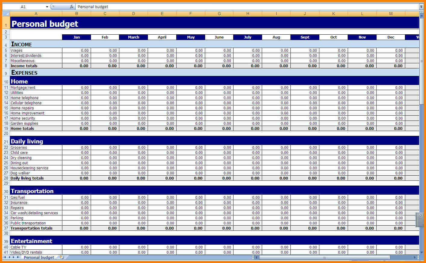 Spreadsheet Financial Functions