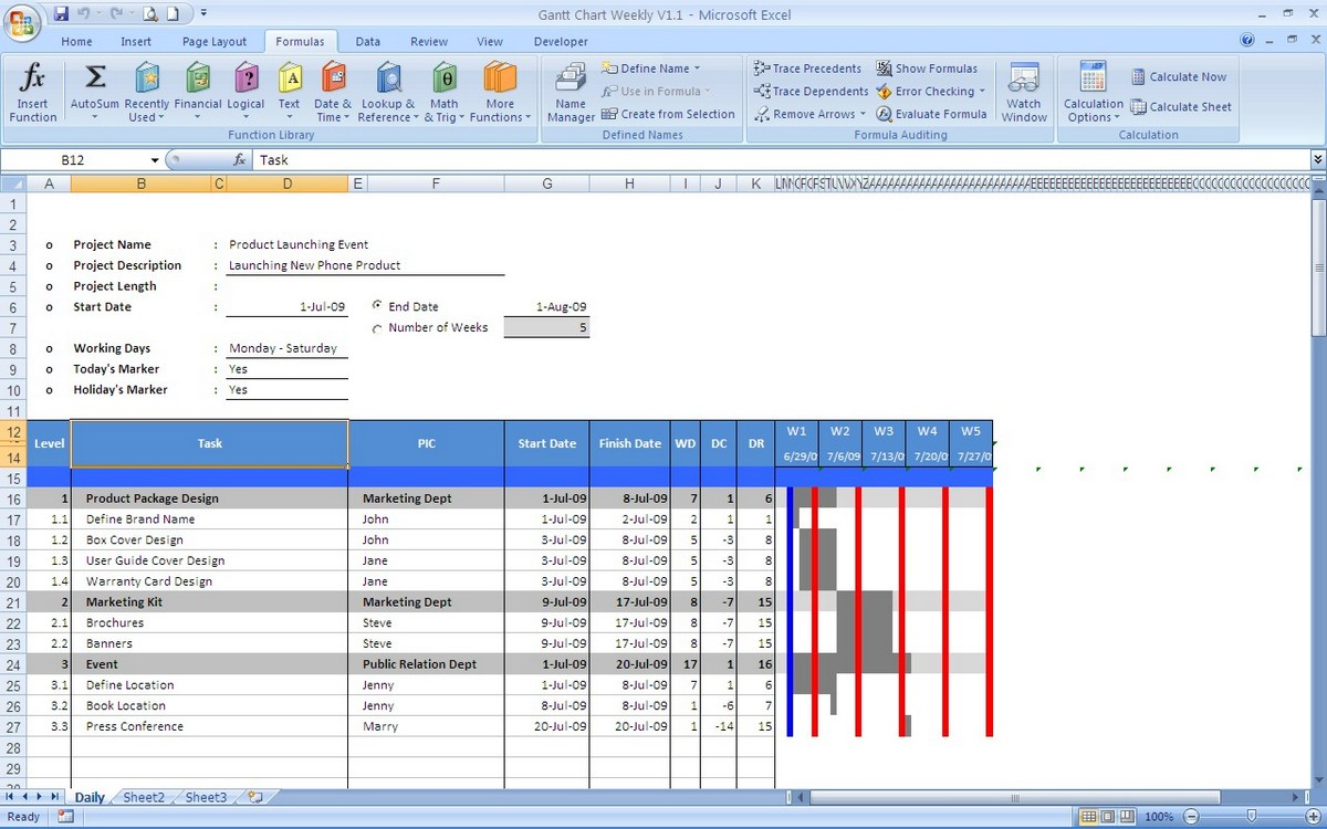 Office Timeline Project Template  Free Gantt templates