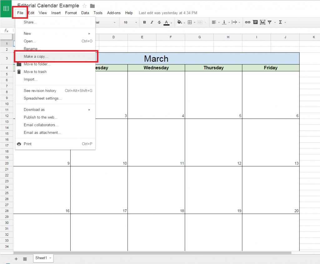 Spreadsheet Templates