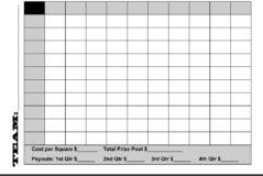Free Football Squares Spreadsheet