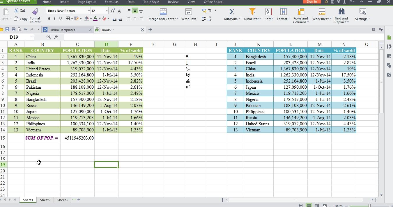 Wps Spreadsheet