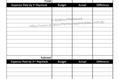 Weekly Expenses Spreadsheet