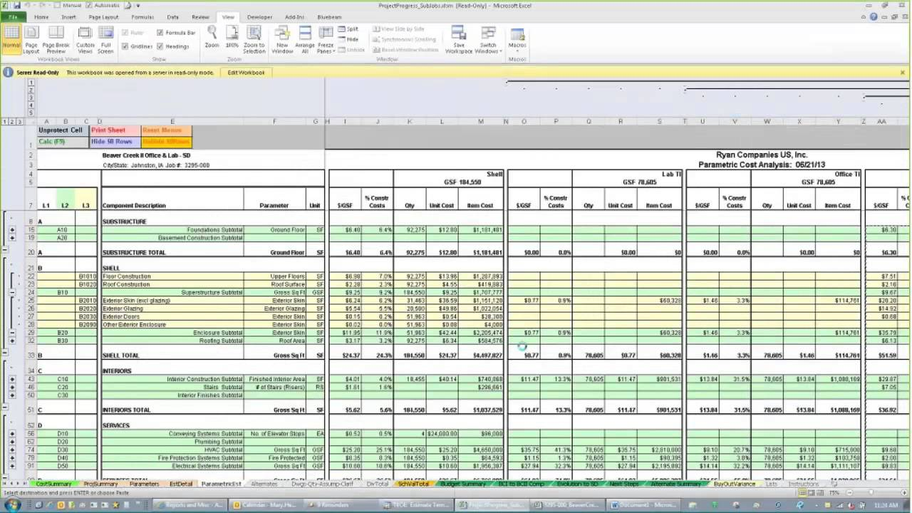 Residential construction cost estimate spreadsheet for Estimating home construction costs