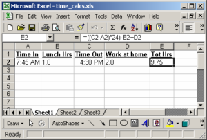 calculate timesheet with lunch