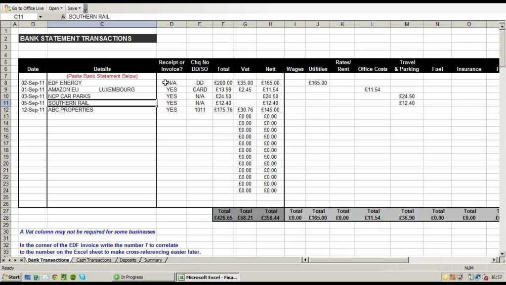 Free Excel Accounting Templates Download And Small Business