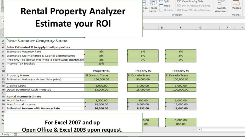 Investment Calculator Excel Template