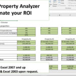 Free Excel Property Investment Analysis Spreadsheet Template