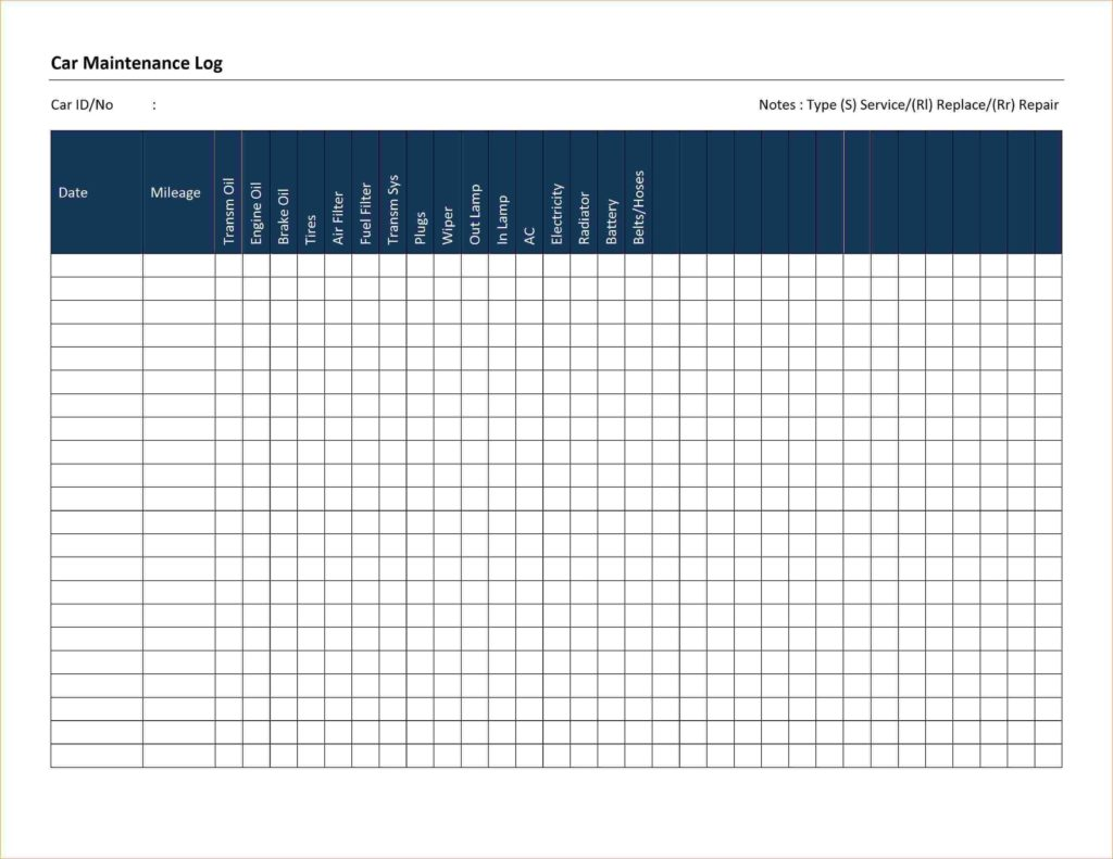 preventive maintenance template excel download