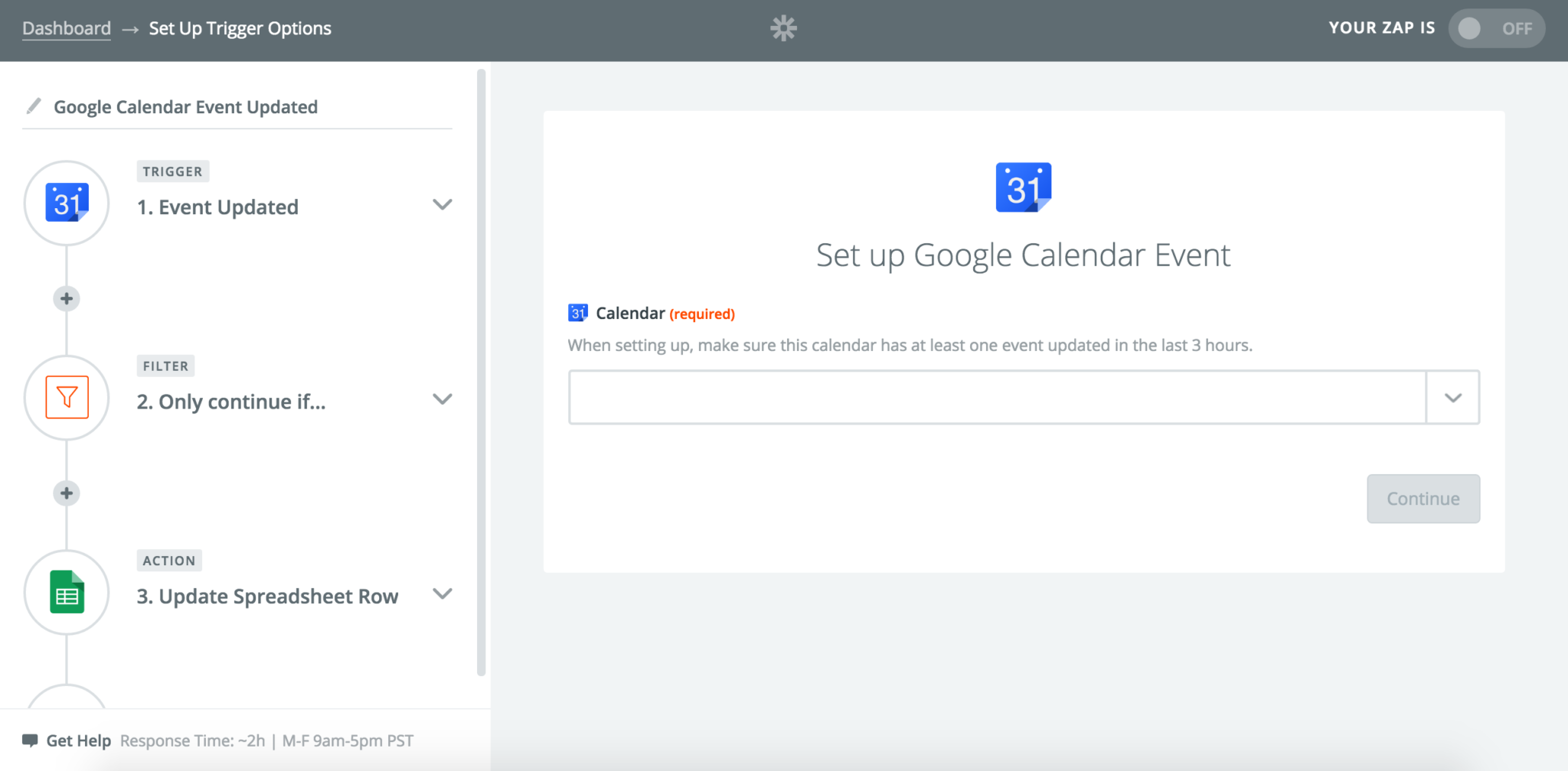 Google Spreadsheet Calendar Picker