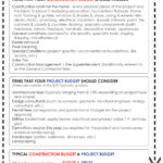 House Building Budget Sheet