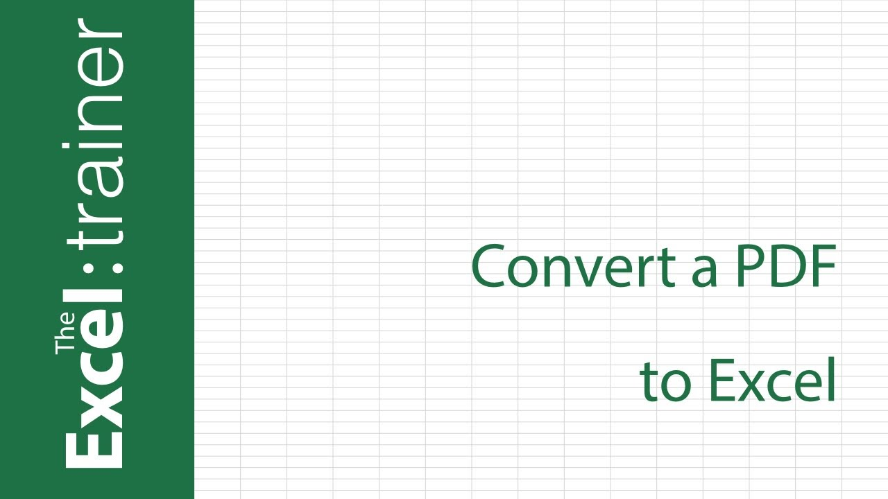 How To Convert Pdf File Into Excel Spreadsheet
