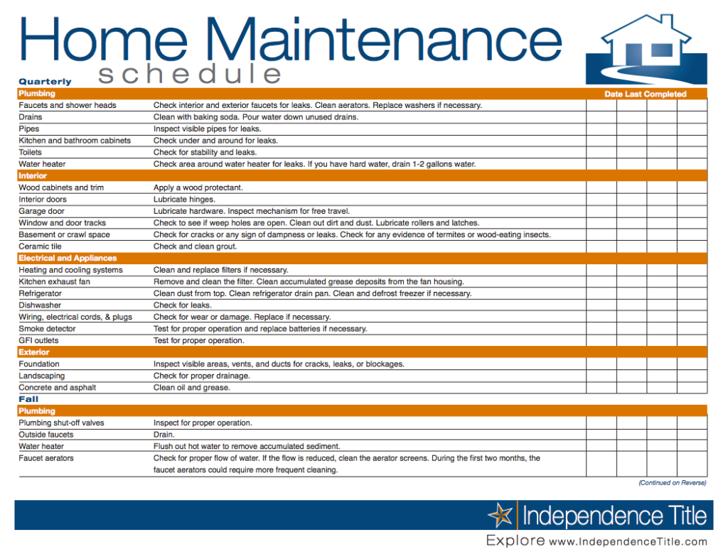 preventive maintenance schedule template excel