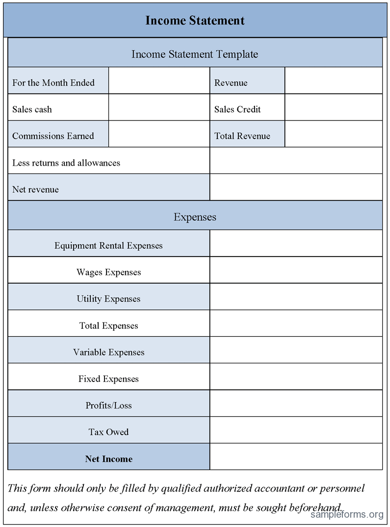 Profit And Expense Spreadsheet Template