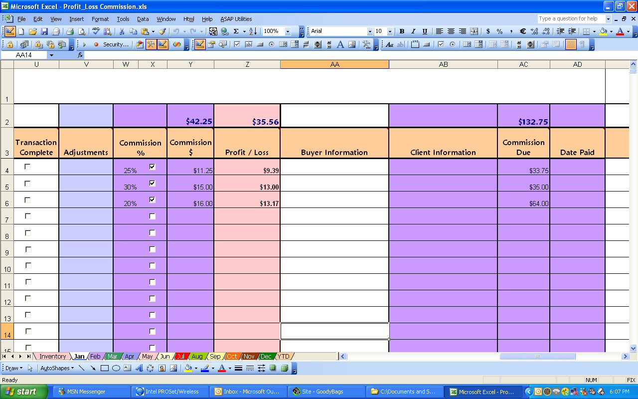 Profit And Loss Template Excel And Profit And Loss Template Monthly