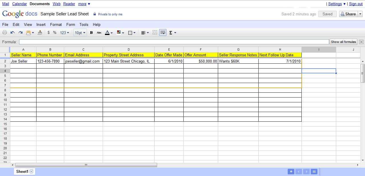Publish Google Spreadsheet To Web
