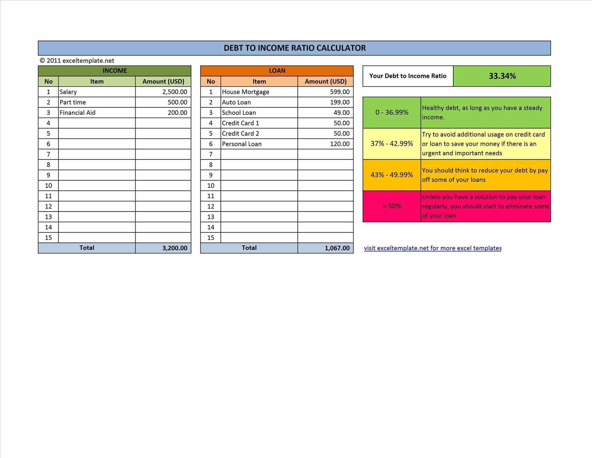 Financial Templates Excel