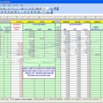 Sample Accounting Worksheet Excel